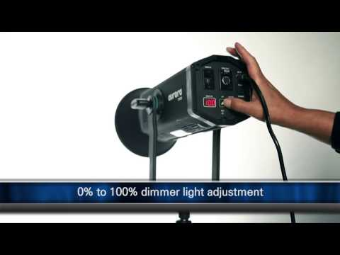 Portable LED spot light for broadcasting, video, photo and cinema by Aurora Lite Bank
