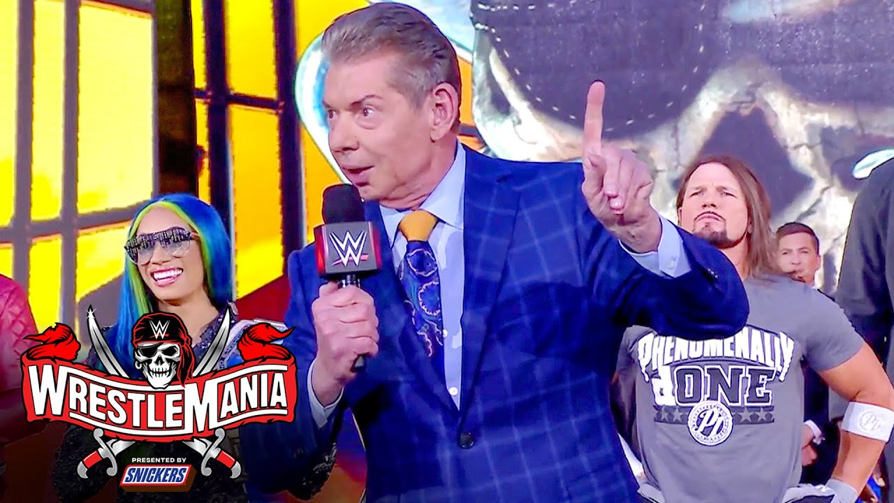 Download Mr. McMahon welcomes WWE Universe to WrestleMania: WrestleMania 37 – Night 1 (WWE Network Exclusive)