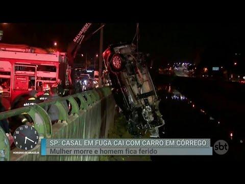 Motorista que caiu em córrego durante perseguição estava foragido | Primeiro Impacto (22/05/18)