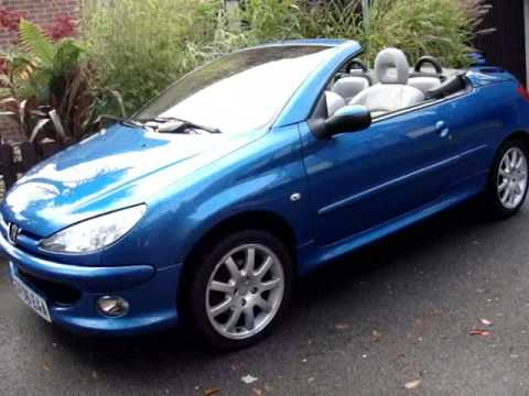peugeot 206 cc alure convertible youtube. Black Bedroom Furniture Sets. Home Design Ideas