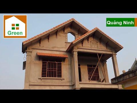 Nhà Đẹp | Mẫu Nhà 2 Tầng Mái Thái 5 Phòng Ngủ Kích Thước 8 m x 12 m