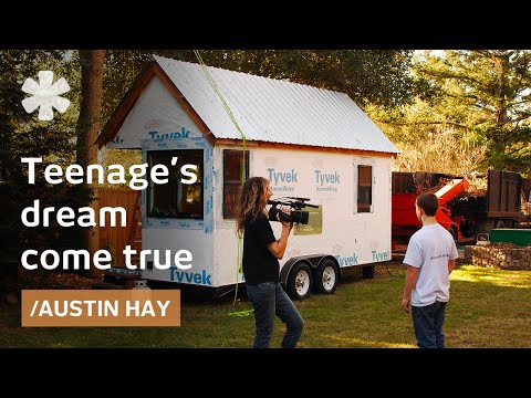 16 year old builds tiny home to guarantee mortgage-free future