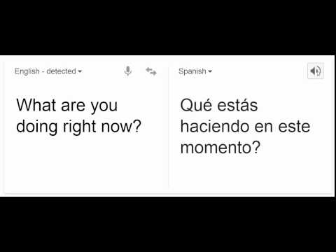 What are you doing right now?  | in Spanish