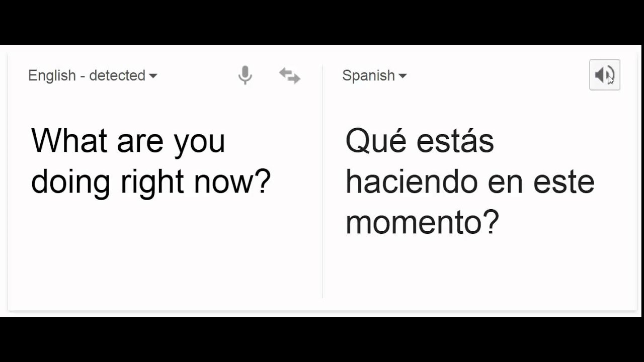 what are you doing right now in spanish youtube