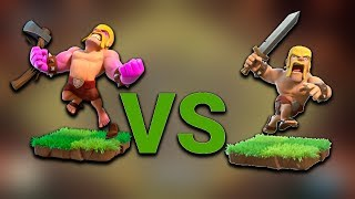 RAGED BARBARIANS VS NORMAL BARBARIANS Clash of Clans | WHCIH TROOP IS THE STRONGEST