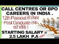 Call Center or BPO Career in India | Jobs | Salary | Interview | Complete Information in Hindi/Urdu