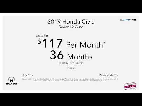 Metro Honda - July Offers