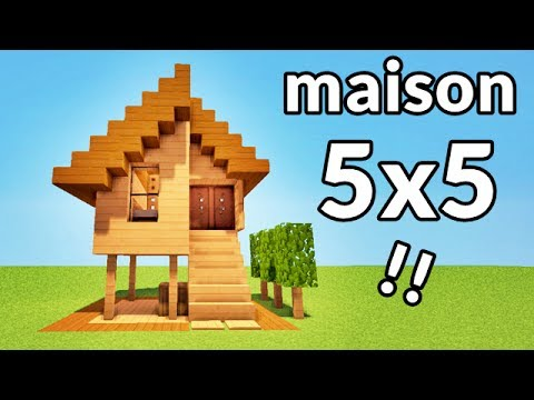 maison facile a faire 5x5 sur minecraft tutoriel youtube. Black Bedroom Furniture Sets. Home Design Ideas