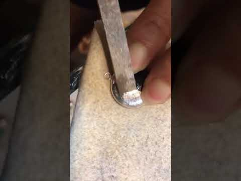 Applying Matt finish to Silver Jewellery
