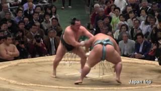 2017春場所での琴勇輝 vs 千代翔馬の取組。