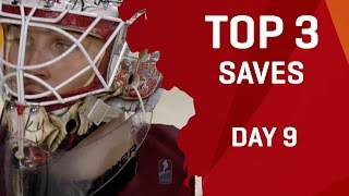 Top 3 Saves | Day 9 | #IIHFWorlds 2017