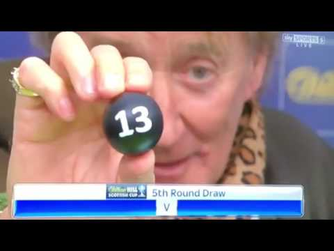 5 th round Scottish cup draw with Alan Stubbs and rod stewart 22 nd jan 2017