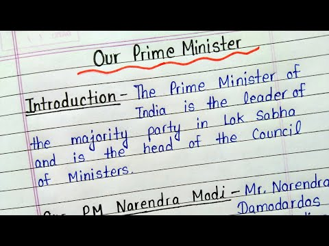 Essay on our prime minister in english for students || Essay on our prime minister Narendra Modi