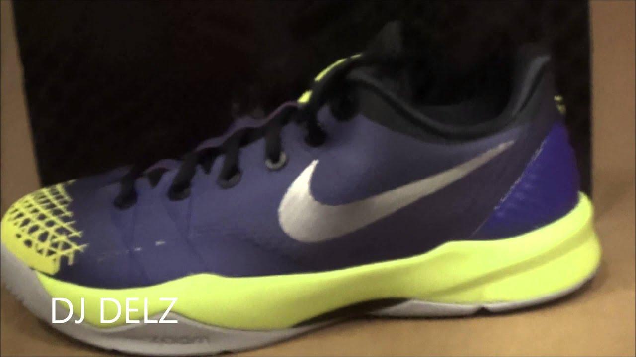 new product d10c7 6a4b3 Nike Kobe 4 IV Venominom Court Purple Volt Prelude Sneaker Review W   DjDelz   HotOrNot