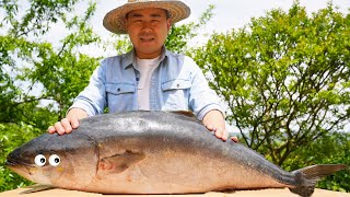 Chao bought a Spanish mackerel for 280 yuan, and he grilled it with his handmade oven#ChefChao