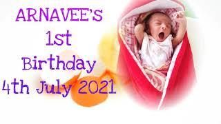Arnavee's 1st Birthday - Meet the Gamer Girl
