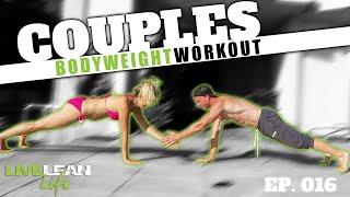 fun couples 4 min bodyweight workout   live lean life ep 016