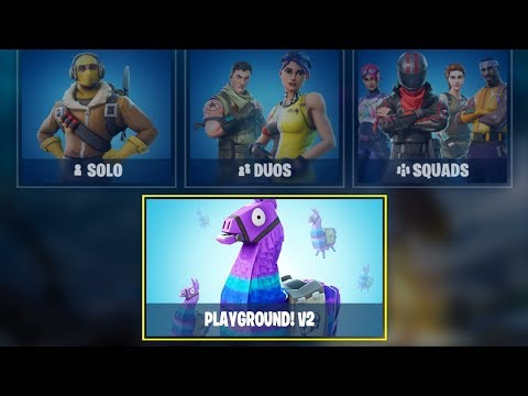 NEW FORTNITE UPDATE OUT NOW! NEW PLAYGROUND V2 IN FORTNITE! (FORTNITE BATTLE ROYALE)