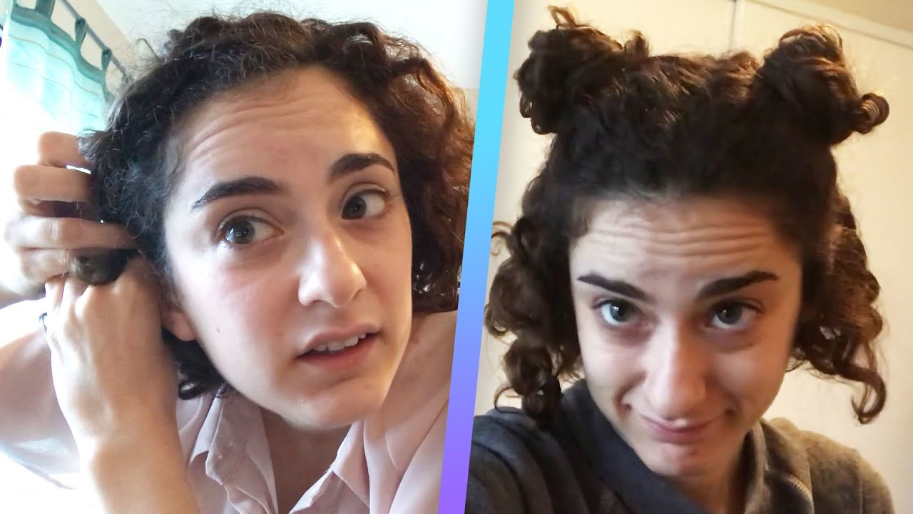 I Tried Curly Hairstyles For A Week Youtube