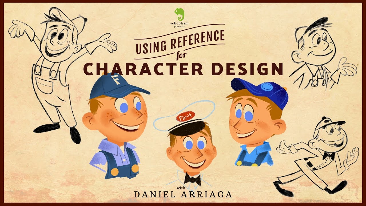 Pixar Character Design Tips : Reference tips with character design daniel arriaga youtube