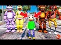 *NEW* ADVENTURE BALDI'S BASICS MEETS THE ANIMATRONICS! (GTA 5 Mods FNAF RedHatter)