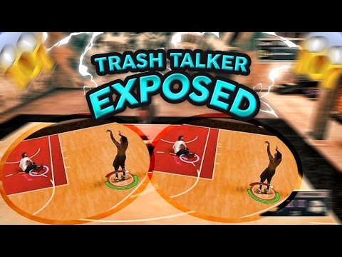 TRASH TALKER GETS EXPOSED IN MYCOURT 1V1 NBA 2K17!!! DROPPED HIM 6 TIMES!! ( MUST WATCH!!)