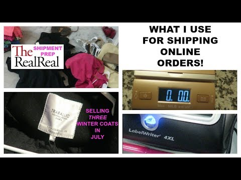 LIFE OF A RESELLER | What I Use for Shipping + The Real Real Shipment