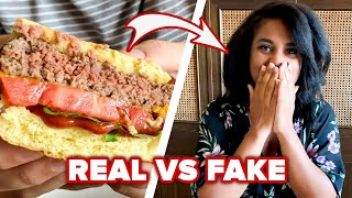 Can You Guess Which Is The Real Burger Vs. Fake Burger?
