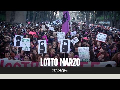 """""""Lotto marzo"""", il corteo delle donne invade le vie di Roma"""