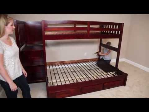 Building a Staircase Mission Bunk Bed from FactoryBunkbeds.com