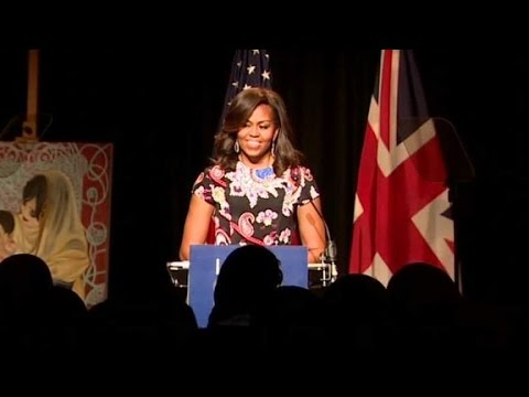 U.S. First Lady in London to promote education