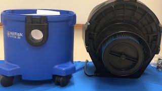 Nilfisk Attix Vacuum, model 30: Changing