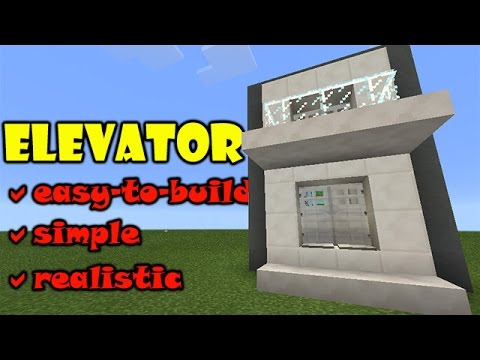 How do you make a lamp in minecraft pe working elevator in pe