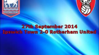 Ipswich Town 2-0 Rotherham United - 2014/15 - BBC Radio Suffolk Highlights