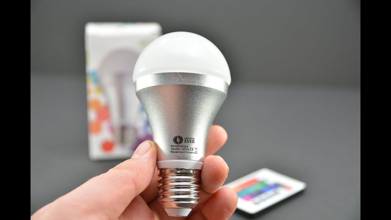 Remote Controlled Colour Changing 5w Led Light Bulb Elrigs