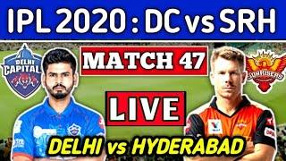 Delhi vs Hyderabad Live Discussion | DC vs SRH | IPL 2020 47th Match Live Score \u0026 Commentary