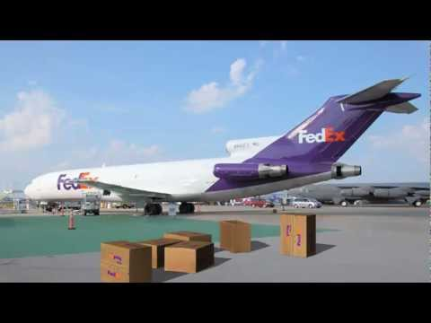 FedEX boxes falling from the sky - different animations - green screen effects thumbnail