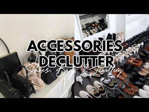 DECLUTTERING MY SHOE + BAG COLLECTIONS | Haley Estrada - YouTube