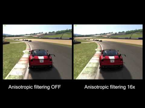 Anisotropic filtering on Assetto Corsa