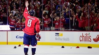 Ovechkin scores 500th NHL goal(Washington Capitals captain Alex Ovechkin buries a power-play goal past Ottawa Senators goalie Andrew Hammond for his 500th career NHL goal., 2016-01-11T02:03:25.000Z)