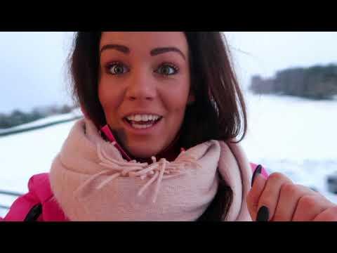 Ashley eerste keer op wintersport