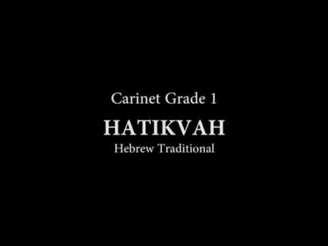 Hatikvah for Clarinet and Piano