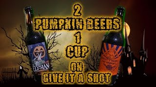 Two Pumpkin Beers One Cup