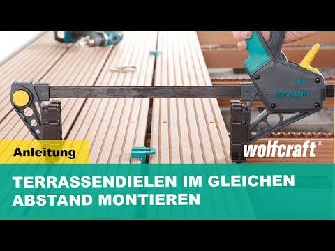 Gut wolfcraft Montagezwinge + Abstandhalter für Terrassendielen - YouTube DO53