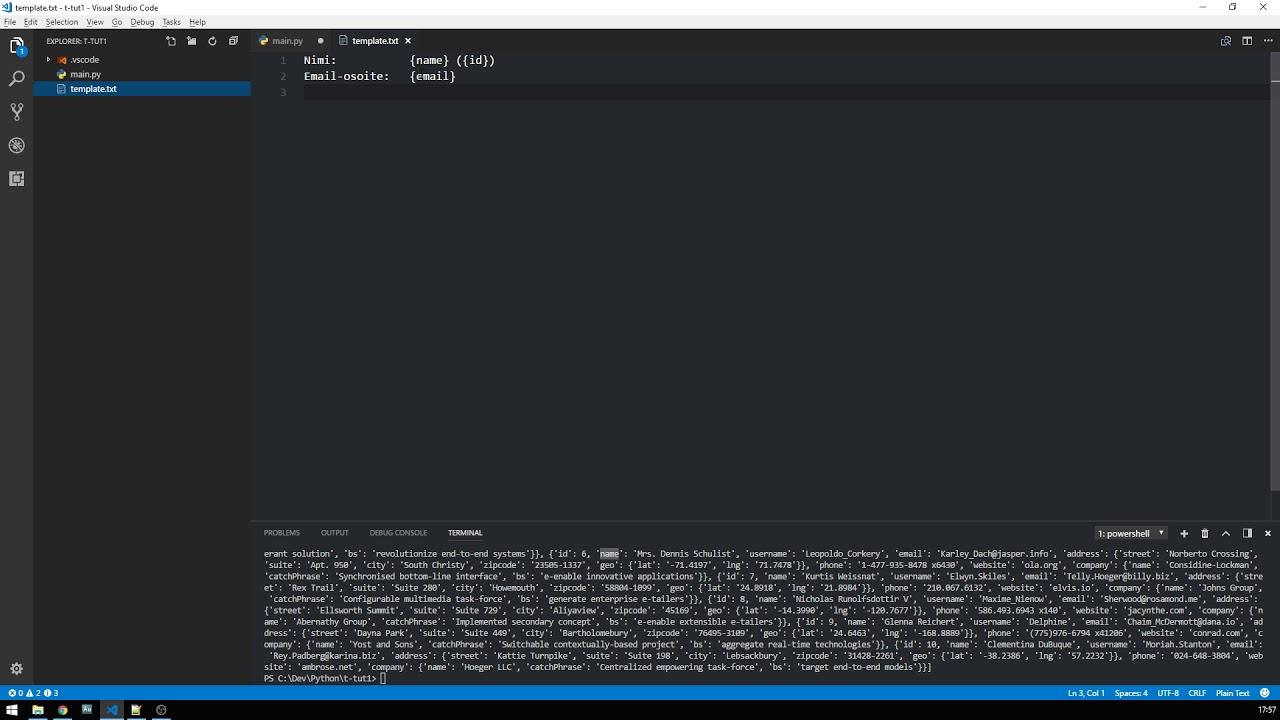 Python API + String Template - YouTube