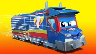 Truck videos for kids -  SAINT PATRICK : Super TRAIN rescues his GREEN friends - Super Truck !