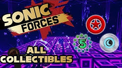 Sonic Forces - Stage 24 Null Space - All Red Rings, Number Rings and Silver Moons