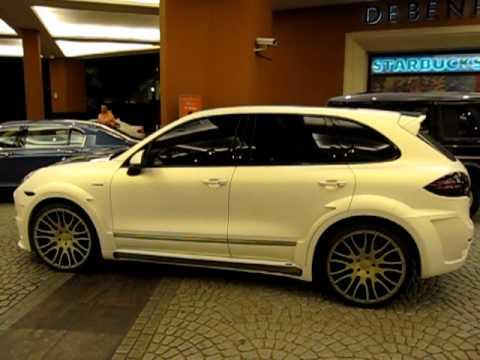 hamann porsche cayenne turbo matte white with carbon - Porsche Cayenne Turbo White