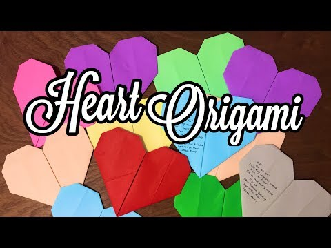 DIY Paper Heart (Origami) | Very Easy Tutorial | Michelle Ann Agustin