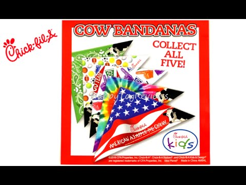 2016-chick-fil-a-cow-bandanas-kids-meal-toys-peppa-pig-books-surprise-eggs-set-5-collection-review